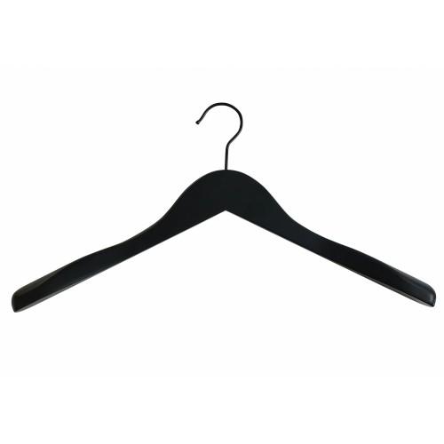 Black Wooden Jacket Top Coat Hanger