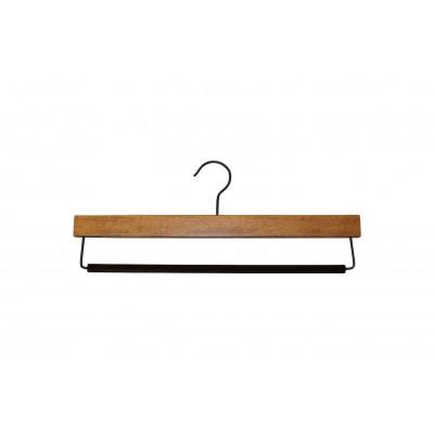 Dark Wood Sustainable Trouser Hanger with Non Slip Bar