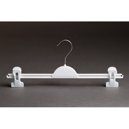 Kids Durable White Plastic Clip Hanger