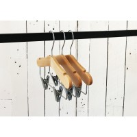 Kids Natural Wood Coat Hanger with Bar