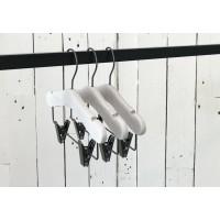 Kids White Ash Wood Coat Hanger with Bar