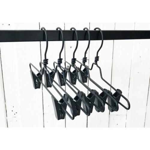 Black Aluminium Clip Bottom Hanger