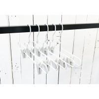 White Metal Clip Bottom Hanger