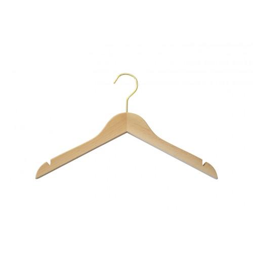 Natural Wooden Thick Top Jacket and Bridal Hanger