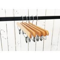 Natural Wooden Clip Bottom Hanger