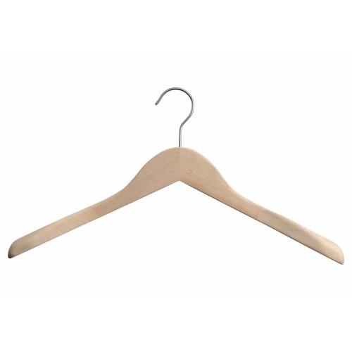 Natural Wooden Jacket Top Coat Hanger