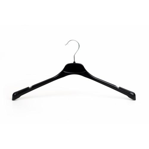 Luxury Black Plastic Top Hanger with Notch