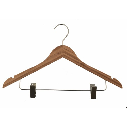 Bamboo Wood Sustainable Top Clip Hanger