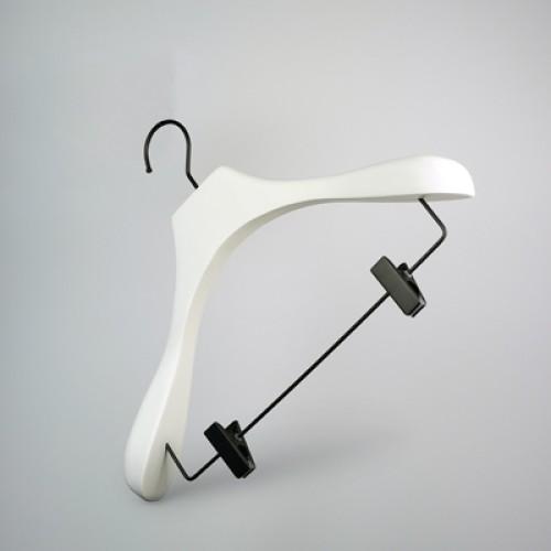 Luxury White Wooden Jacket Suit Hanger
