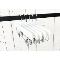 White Gloss Wooden Clip Bottom Hanger