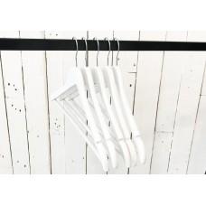 White Gloss Wooden Wishbone Coat Hanger