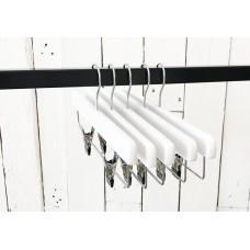 White Wooden Clip Bottom Hanger